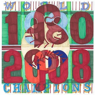 2008 World Champions Painting - world champion Phils by Jeremiah Iannacci