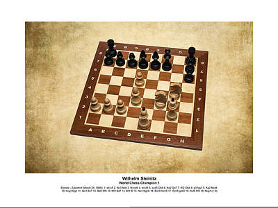 World Chess Champions - Wilhelm Steinitz - 1 Art Print by Alexander Senin
