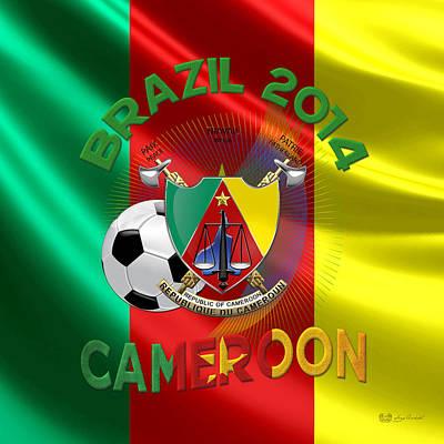 World Cup 2014 - Team Cameroon Art Print