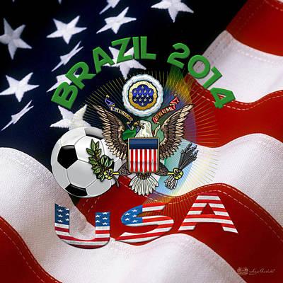 World Cup 2014 - Team Usa Art Print by Serge Averbukh