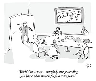 Cartoons Drawing - World Cup by Farley Katz