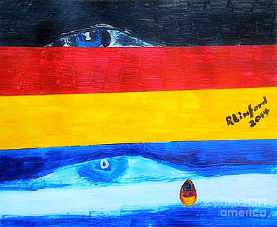World Cup Soccer Germany Wins Over Argentina 1 To 0 Original by Richard W Linford
