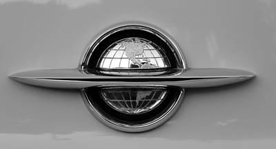 1949 Plymouth Photograph - World Emblem  by David Lee Thompson