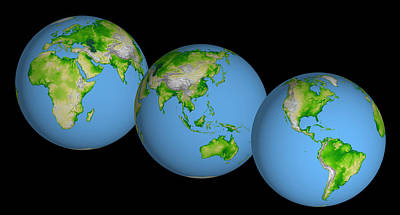 Photograph - World Globes by Nasa Jpl
