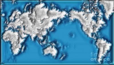 Digital Art - World Impressions - Ice Age by Kaye Menner