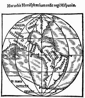 Terra Painting - World Map, 1529 by Granger