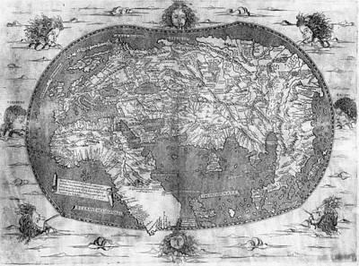 World Map, C1492 Art Print by Granger
