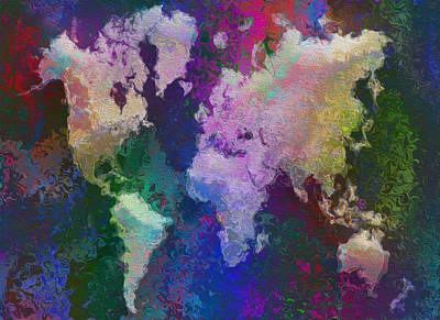 World Map Art Print by Jack Zulli