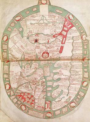 Cartography Photograph - World Map Of Rhigden by British Library