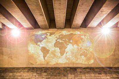 Photograph - World Map by Semmick Photo