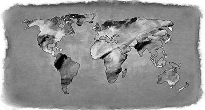 Photograph - World Map Torn Edges by Athena Mckinzie