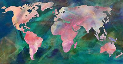 Photograph - World Map Vivid by Athena Mckinzie