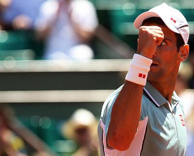 World Number One Novak Djokovic  Art Print