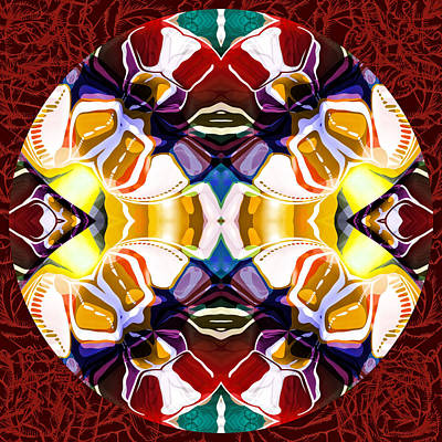 Tantra Digital Art - World Of Color Modern Mandala by Georgiana Romanovna