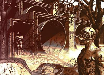Digita Art Digital Art - World Of Ruin by John Alexander