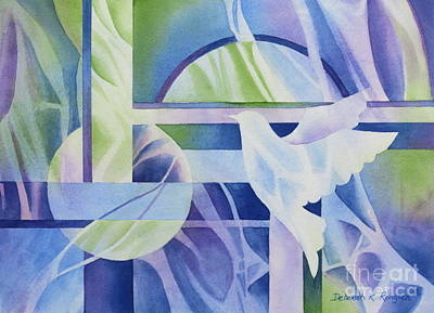 Jewel Tone Painting - World Peace 3 by Deborah Ronglien