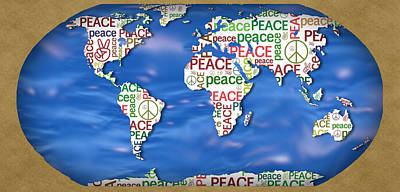 World Peace Print by Chris Goulette
