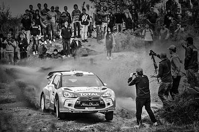 Door Locks And Handles Rights Managed Images - World Rally Championship in Black and White Royalty-Free Image by Alejandro Zurcher