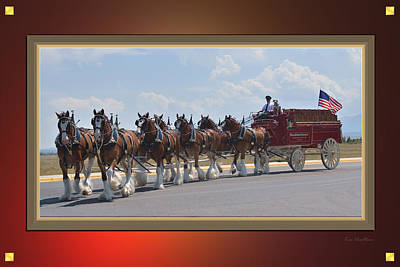 World Renown Clydesdales Art Print by Kae Cheatham