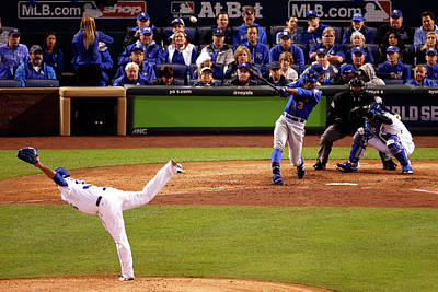 Photograph - World Series - New York Mets V Kansas by Christian Petersen