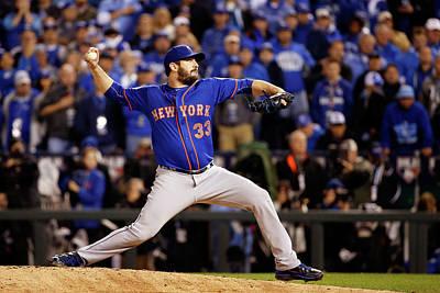 Photograph - World Series - New York Mets V Kansas by Sean M. Haffey