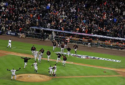 Photograph - World Series - San Francisco Giants V by Christian Petersen