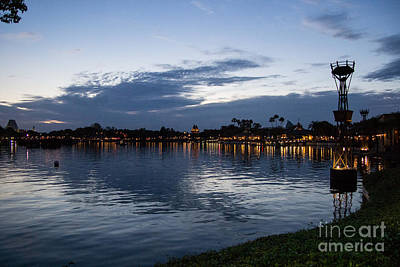Photograph - World Showcase At Dusk by Suzanne Luft