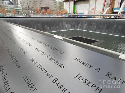 Photograph - World Trade Center 9/11 Memorial Pool - Long by Vinnie Oakes