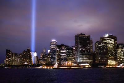 Photograph - World Trade Center Beams by Dave Beckerman