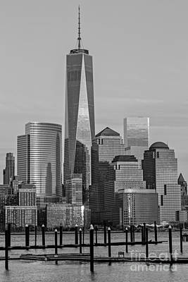 Landscape Photograph - World Trade Center Freedom Tower Nyc Bw by Susan Candelario