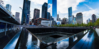 Photograph - World Trade Center - North Memorial Pool by Chris McKenna