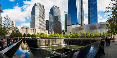Art Print featuring the photograph World Trade Center - South Memorial Pool by Chris McKenna