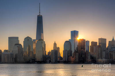 Photograph - World Trade Center Sunrise I by Clarence Holmes