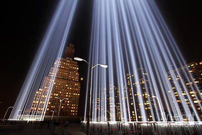 Photograph - World Trade Center Tribute In Lights by Steven Spak