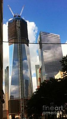 Photograph - World Trade Center Twin Tower by Susan Garren