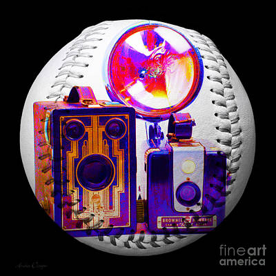 Digital Art - World Travelers 2 Baseball Square by Andee Design