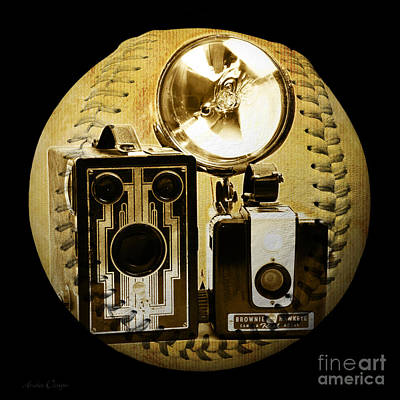 Digital Art - World Travelers 3 Baseball Square by Andee Design