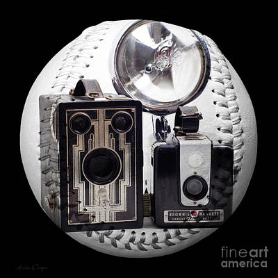 Mixed Media - World Travelers Baseball Square by Andee Design