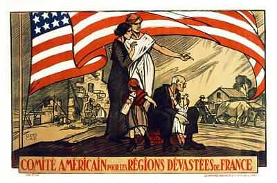 World War 1 Relief - France - 1917 Print by Daniel Hagerman