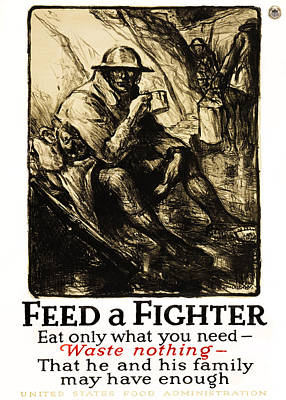 Doughboy Photograph - World War 1 - U. S. War Poster by Daniel Hagerman