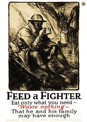 World War 1 - U. S. War Poster Print by Daniel Hagerman