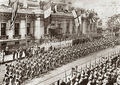 Vladivostok Photograph - World War I Allied Parade by Granger