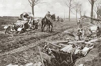 Photograph - World War I Armored Car by Granger