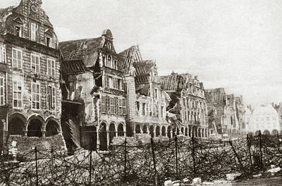Barbed Wire Fences Painting - World War I Arras by Granger