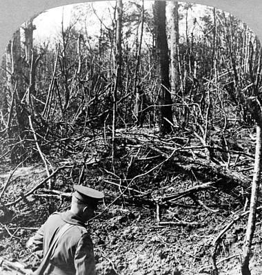 Belleau Wood Photograph - World War I Belleau Wood by Granger