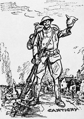 World War I Cartoon, 1918 Art Print
