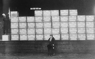 World War I Cigarette Shipment Art Print by Library Of Congress