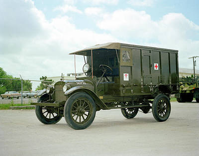 Ambulance Photograph - World War I Field Ambulance by Us Army