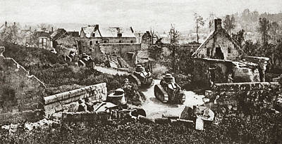 Photograph - World War I French Tanks by Granger