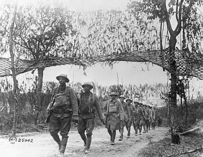 Netting Photograph - World War I Infantry, C1917 by Granger